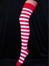 Red/White Striped Stockings